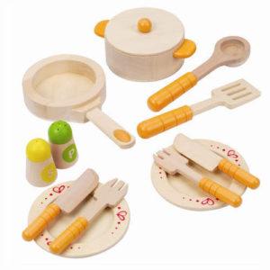 Træ legetøj gourmet køkken