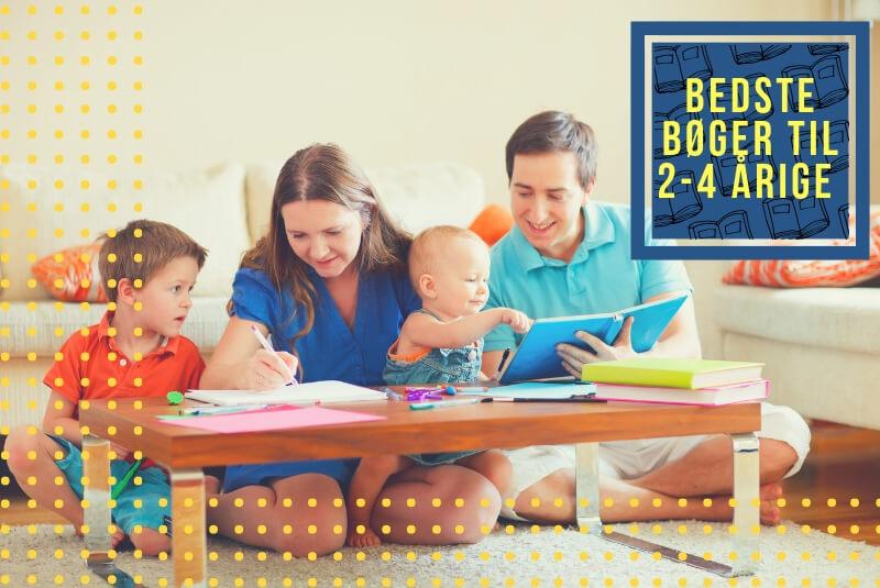 Bedste bøger til 2-4 årige