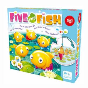 Fem små fisk fiskespil