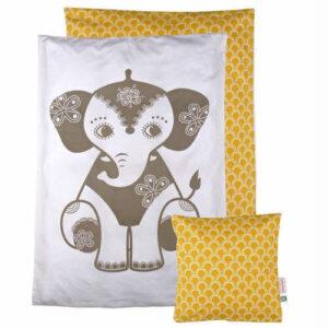 Baby sengetøj med elefant motiv