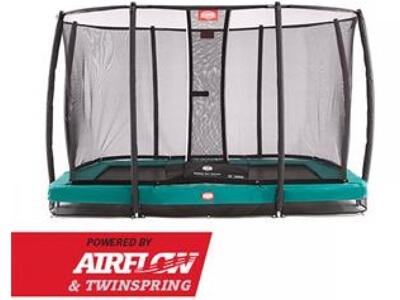 Berg Ultim Champion Inground - Firkantet trampolin med sikkerhedsnet