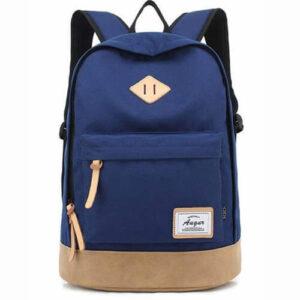 Blå skole rygsæk