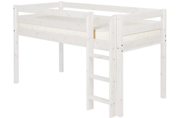 Flexa Classic seng i hvidpigmenteret fyrretræ og synlige knaster