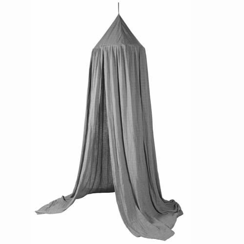 Sebra grå sengehimmel til tremmeseng