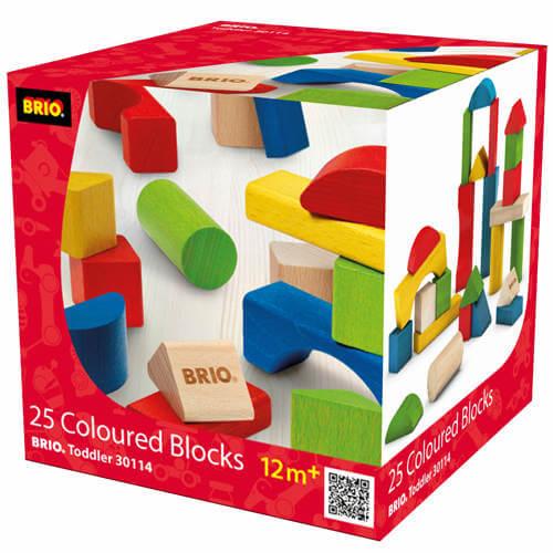 Brio byggeklodser farvede