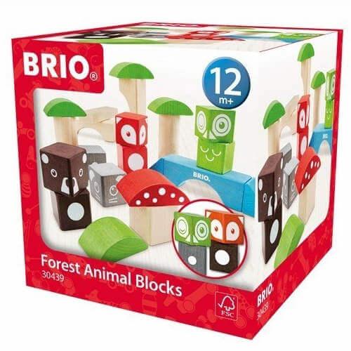 Brio klodser - Bygge klodser til børn med 22 søde og farverige dyr