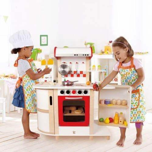 Hape multi funktion køkken - Bedste køkken legetøj fra 3 år