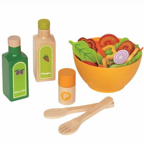 Hape salatsæt - Bedste køkken legetøj med sundt legemad i 36 dele