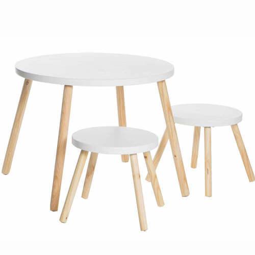 JOX furniture ovalt hvidt træbord