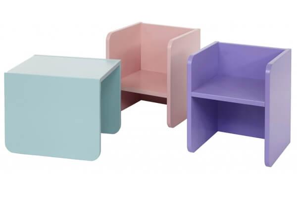Manis-h 3-i-1 - Sødt og farverigt bord og stol til børn i træ