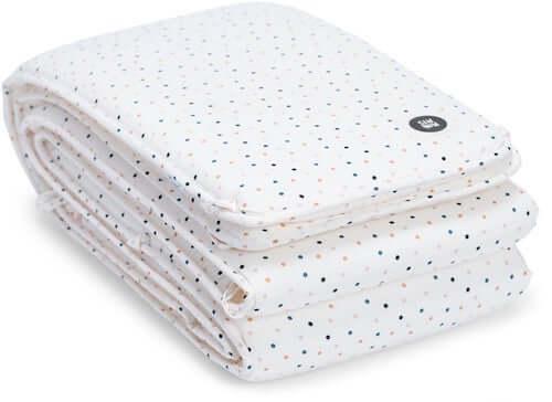 Hvid MiniMys sengerand med snore og polyester betræk