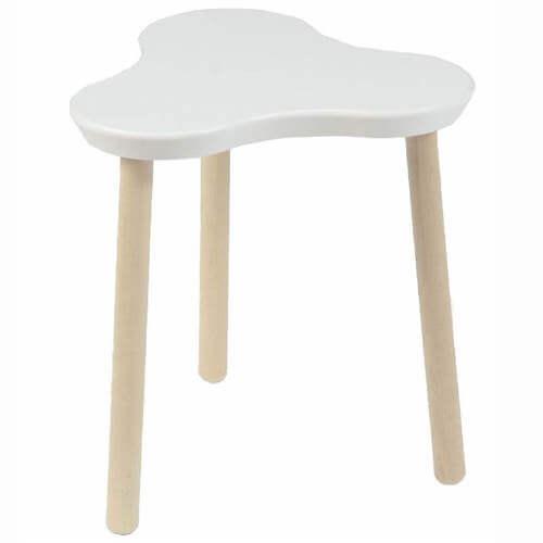 Smallstuff børneskammel - Flot lille stol der er formet som en hvid kløver