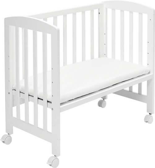 BabyDan Bedside Crib - Udstyret med hjul og 6 forskellige indstillingsmuligheder