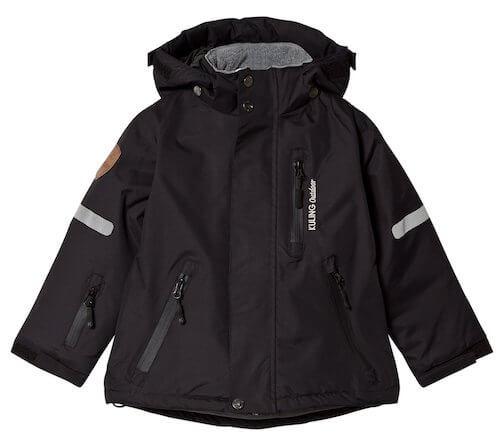 KULING Hafjell Happy Black forårsjakke til børn