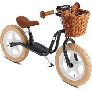 Puky klassisk løbecykel med kurv og støtteben
