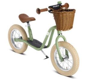 Puky løbecykel med bremse i sort eller grøn fra 3 år