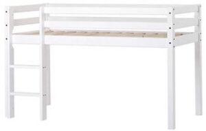 Hoppekids svanemærket basic hvid halvhøj seng