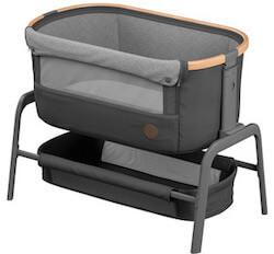 Maxi-Cosi iOra Graphite moderne baby crib med glidefunktion