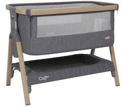 Tutti Bambini bedside Crib CoZee® med luksus madras og hylde