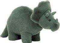 Jellycat Fossilly Triceratops grøn bamse