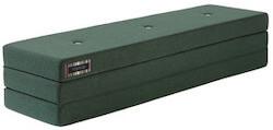 By KlipKlap KK 3 Fold XL mørkegrøn madras med lysegrønne knapper