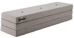 By KlipKlap KK 3 Fold madras Multi-grå med grå knapper