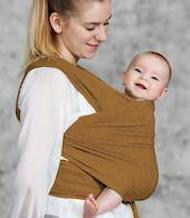 Müsli baby wrap vikle wood med god komfort og god slidstyrke