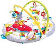 Yookidoo aktivitetstæppe med sidde op funktion inkl. legetøj